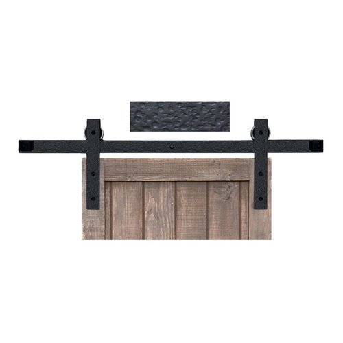 Acorn Manufacturing Basic Barn Door Rolling Hardware & 7' Track Rough Iron BH3BI-7