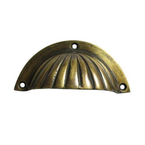 Gado Gado Bin Pulls 3 Inch Center to Center Unlacquered Antique Brass Cabinet Cup Pull HBP7014