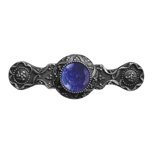 Jewel 3 Inch Center to Center Antique Pewter Cabinet Pull <small>(#NHP-624-AP-BS)</small>