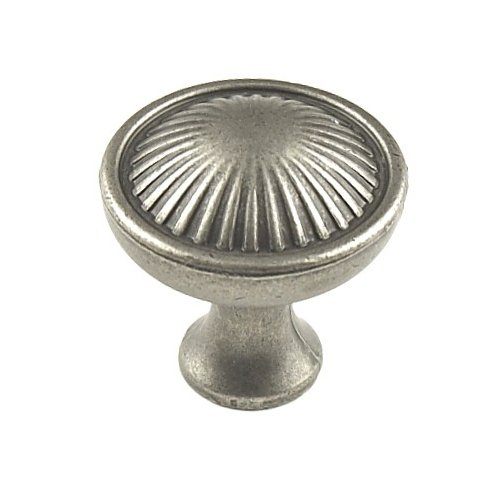 Sunglow 1-3/16 Inch Diameter Aged Pewter Cabinet Knob <small>(#26005-AP)</small>
