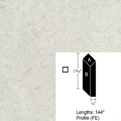 Wilsonart Bevel Edge - White Tigris - 12 Ft CE-FE-144-4783-60