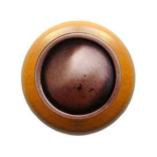 Classic 1-1/2 Inch Diameter Antique Copper Cabinet Knob <small>(#NHW-761M-AC)</small>