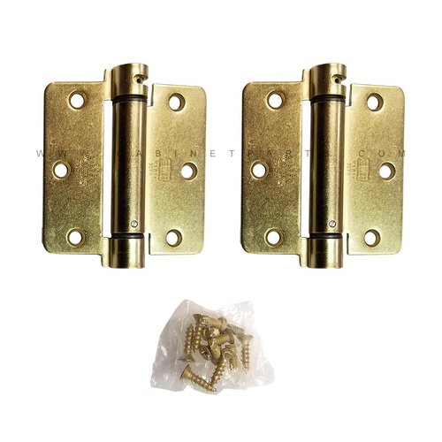 "Bommer Industries LB4311-350 1/4"" Radius Corner Single Act Spring Hinge -Brass LB4311-350-633"