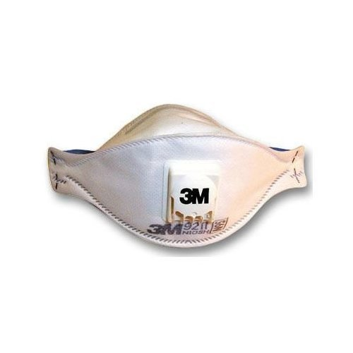 3M Particulate Respirator N95 with Exhalation Valve White 9211
