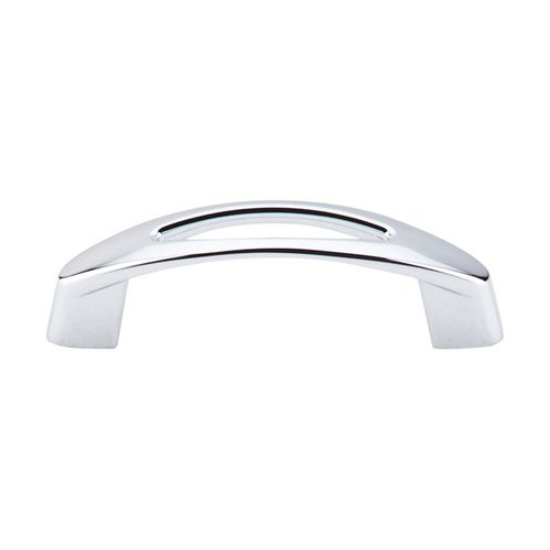 Nouveau 3 Inch Center to Center Polished Chrome Cabinet Pull <small>(#M1771)</small>