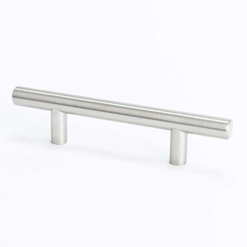 Tempo 3 Inch Center to Center Brushed Nickel Cabinet Pull <small>(#0800-2BPN-P)</small>