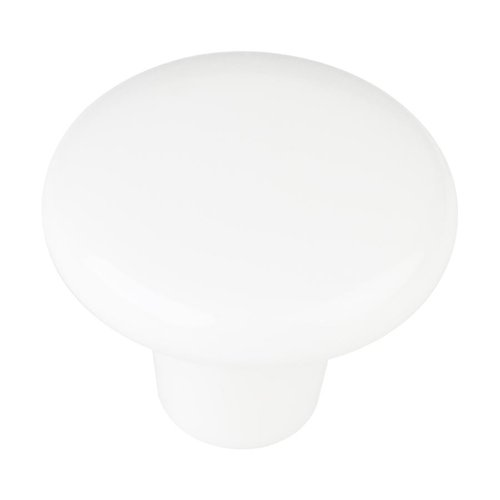 Elements by Hardware Resources Tempo 1-3/8 Inch Diameter White Plastic Cabinet Knob HR893