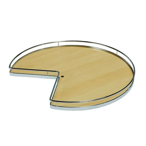 "Kessebohmer Super Susan Pie Cut Lazy Susan Set 32"" Maple/Chrome 541.11.153"