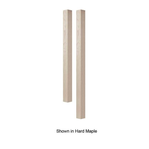 Brown Wood 3 inch Square Island Column Unfinished Hickory 01623010HK1