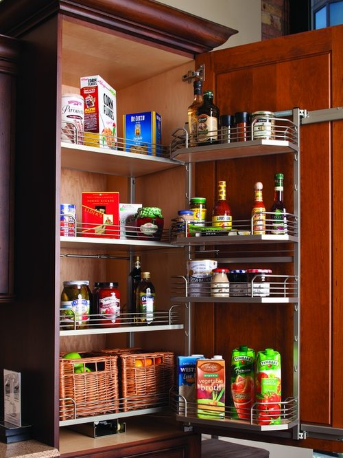 Kessebohmer Arena Plus Chefs Pantry Door Tray Set 17-1/8 inch W Chrome/Maple 546.64.193