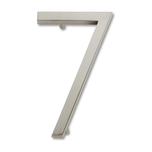 Modern Avalon House Number Seven Brushed Nickel <small>(#AVN7-BRN)</small>