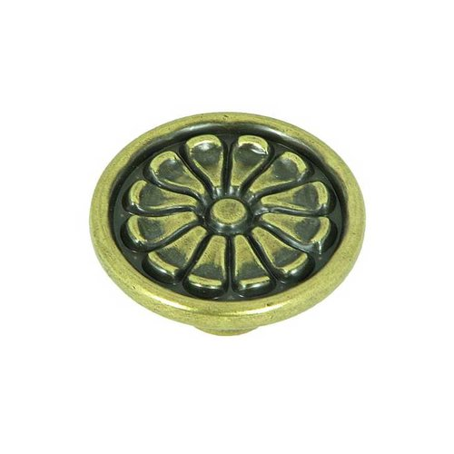 Stone Mill Hardware Cornell 1-5/8 Inch Diameter Brushed Antique Brass Cabinet Knob CP82404-ABR