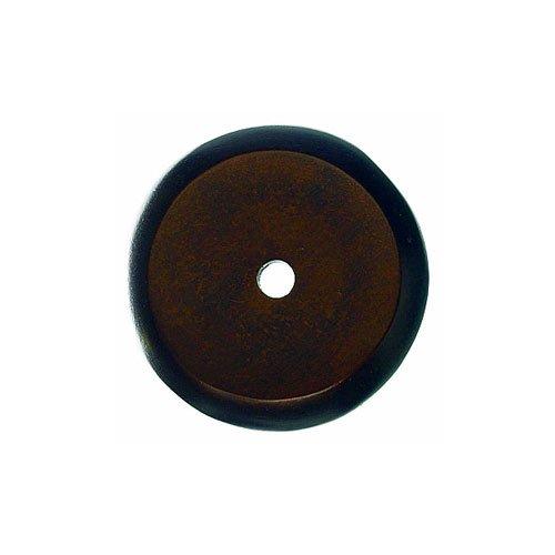 Top Knobs Aspen 1-1/4 Inch Diameter Mahogany Bronze Back-plate M1463