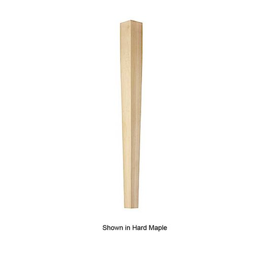 Brown Wood 4 Sided Square Tapered Leg Unfinished Hickory 01540310HK1