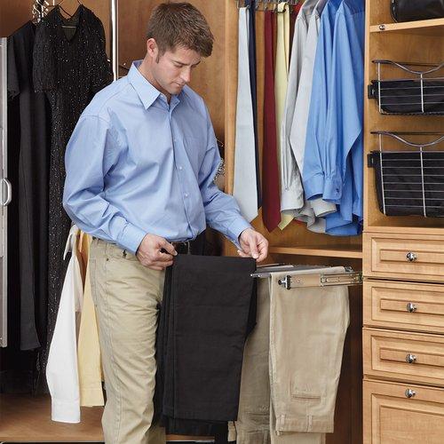 Rev-A-Shelf Pull Out Pants Rack-9 Pair Capacity PSC-1814CR