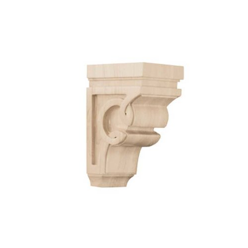 Brown Wood Small Celtic Corbel Unfinished White Oak 01600627WK1