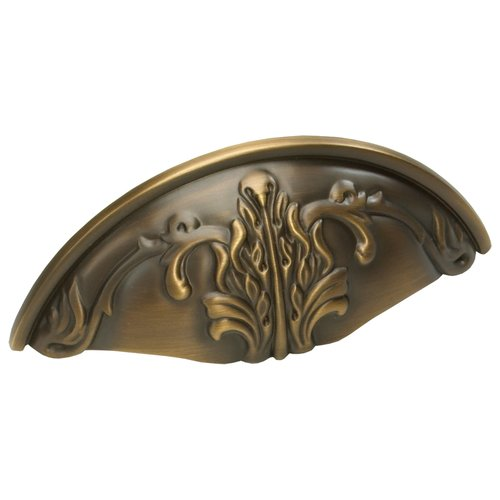 Schaub and Company Corinthian 3 Inch Center to Center Redington Brass Cabinet Cup Pull 872-RB