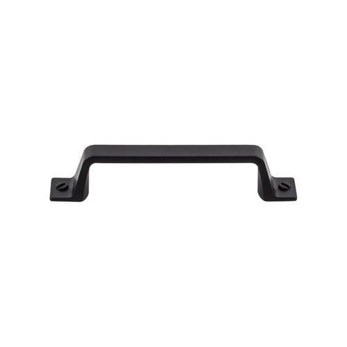Top Knobs Barrington 3-3/4 Inch Center to Center Flat Black Cabinet Pull TK743BLK