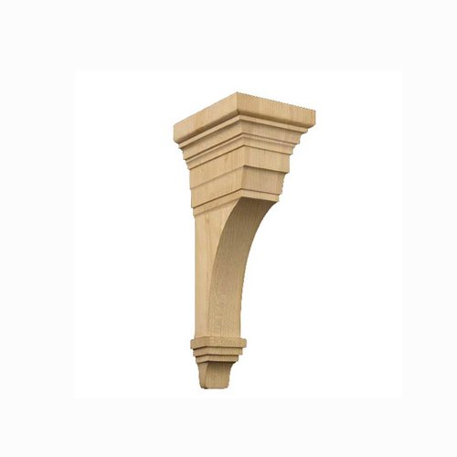 Brown Wood Large Arts & Crafts Corbel Unfinished Hard Maple 01607010HM1