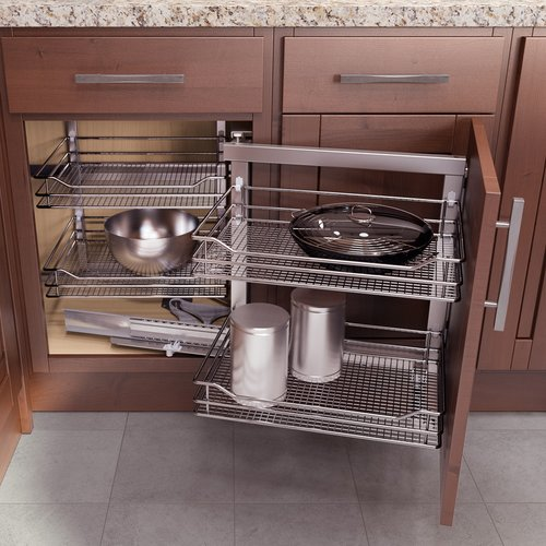"Right Hand Wari Corner Blind Corner System 31.50"" W Chrome <small>(#9000 4164)</small>"