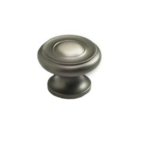 Schaub and Company Colonial 1-1/2 Inch Diameter Antique Nickel Cabinet Knob 704-AN
