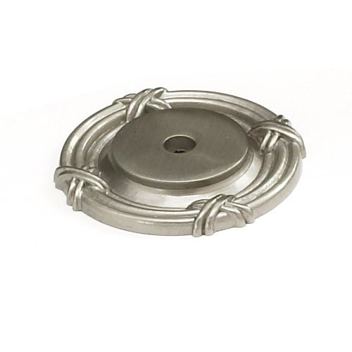 Schaub and Company Versailles Forged Solid Brass 1-1/2 Inch Diameter Satin Nickel Back-plate 756-15