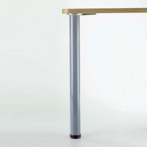 "Peter Meier Hamburg Table Leg Set Brushed Steel 34-1/4""H 615-87-ST"