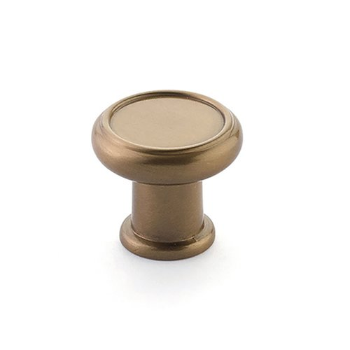 "Schaub and Company Steamworks Knob 1-1/4"" Dia Brushed Bronze 78-BBZ"