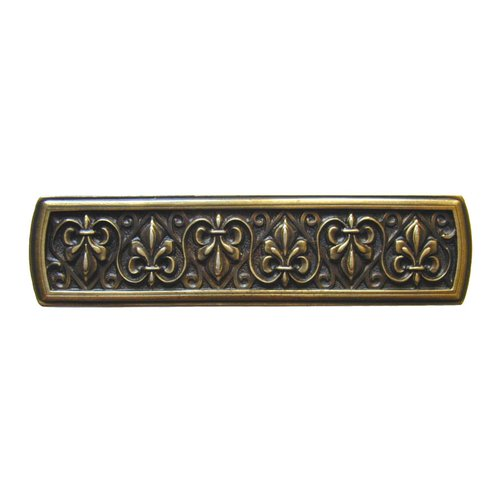 Notting Hill Olde World 3 Inch Center to Center Antique Brass Cabinet Pull NHP-660-AB