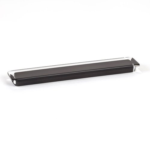 R. Christensen Core 6-5/16 Inch Center to Center Black Transparent Cabinet Pull 9762-7000-P