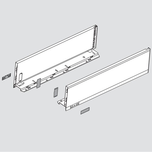 "Legrabox K 14"" Drawer Profile Left/Right Stainless Steel <small>(#770K3502I)</small>"