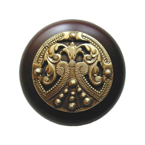 Notting Hill Olde Worlde 1-1/2 Inch Diameter Antique Brass Cabinet Knob NHW-701W-AB
