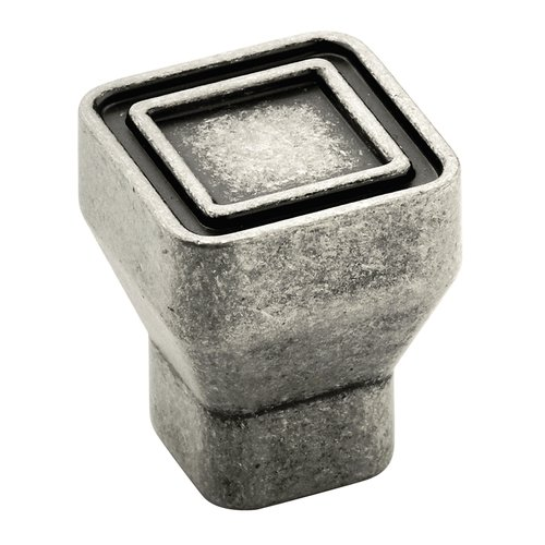 Polara 15/16 Inch Diameter Aged Pewter Cabinet Knob <small>(#BP53025AP)</small>