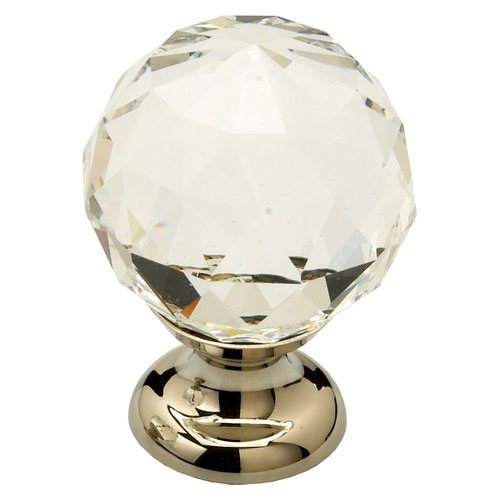 Schaub and Company Fire 1-1/8 Inch Diameter Clear Crystal/Polished Nickel Cabinet Knob 70-CS-PN