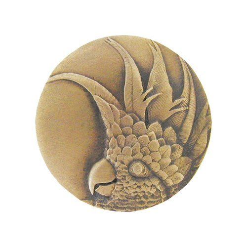 Notting Hill Tropical 2 Inch Diameter Antique Brass Cabinet Knob NHK-327-AB-R