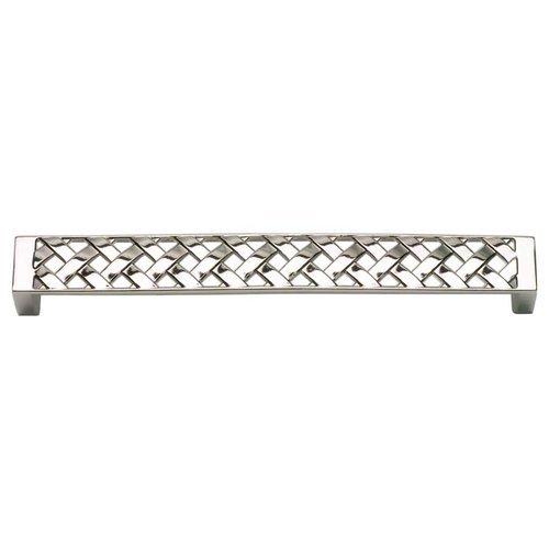 Lattice 6-5/16 Inch Center to Center Polished Nickel Cabinet Pull <small>(#312-PN)</small>