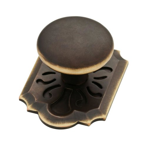 Augustine 2-3/8 Inch Diameter Bronze W/ Gold Highlights Cabinet Knob <small>(#P28020-VBG-C)</small>