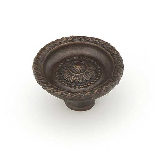 Schaub and Company Sunflower 1-3/8 Inch Diameter Dark Glaze Cabinet Knob 921S-DG