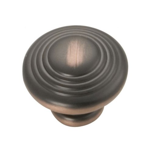 Hickory Hardware Deco 1-1/4 Inch Diameter Oil Rubbed Bronze Highlighted Cabinet Knob P3103-OBH