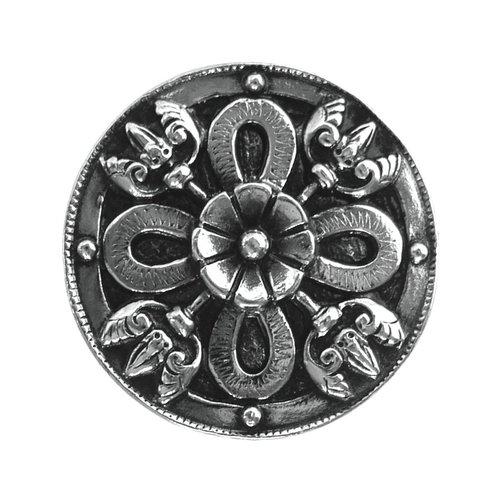 Notting Hill Jewel 1-1/8 Inch Diameter Brite Nickel Cabinet Knob NHK-103-BN
