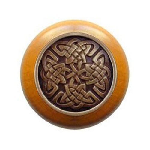Notting Hill Jewel 1-1/2 Inch Diameter Antique Brass Cabinet Knob NHW-757M-AB