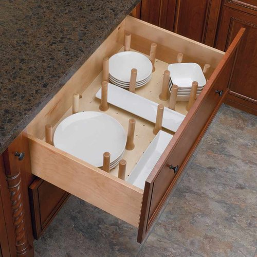 Rev-A-Shelf Small Drawer Peg System-Wood 4DPS-2421