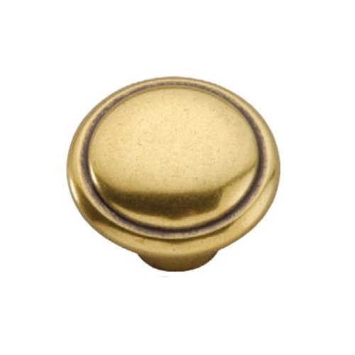Hickory Hardware Conquest 1-3/8 Inch Diameter Lustre Brass Cabinet Knob P14848-LB