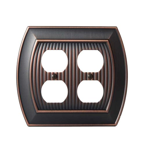 Amerock Allison Two Receptacle Wall Plate Oil Rubbed Bronze BP36537ORB