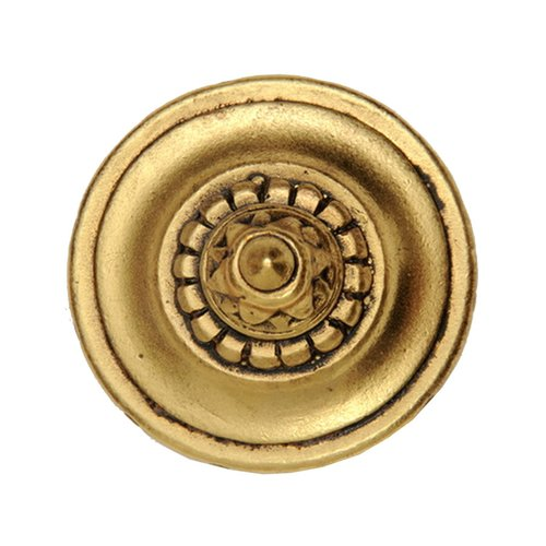Notting Hill King's Road 1-1/4 Inch Diameter 24K Satin Gold Cabinet Knob NHK-206-SG