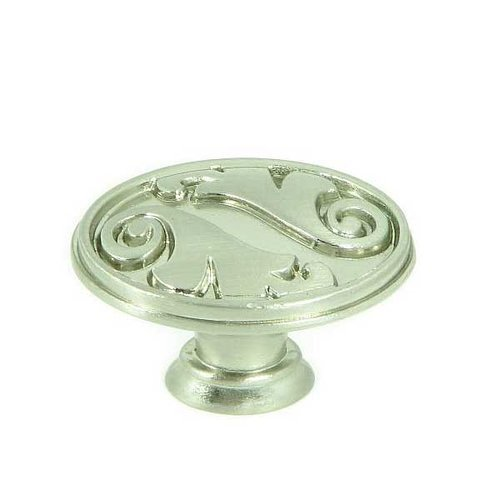 Stone Mill Hardware Meadow Brook 1-1/2 Inch Diameter Satin Nickel Cabinet Knob CP81097-SN