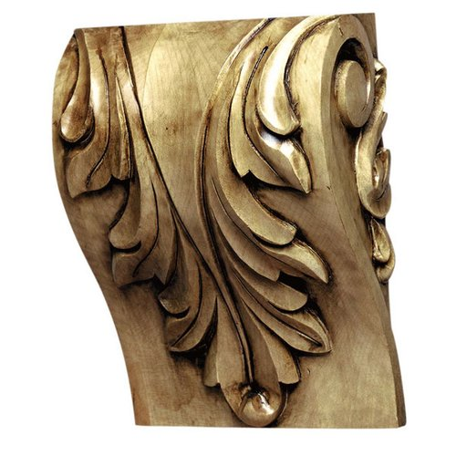 "Grand River Cor-8B Acanthus Block Corbel 7-5/8"" H-Maple COR-8B-M"