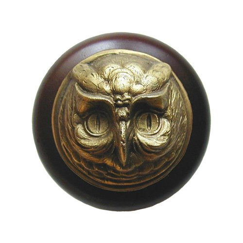Notting Hill Great Outdoors 1-1/2 Inch Diameter Antique Brass Cabinet Knob NHW-711W-AB