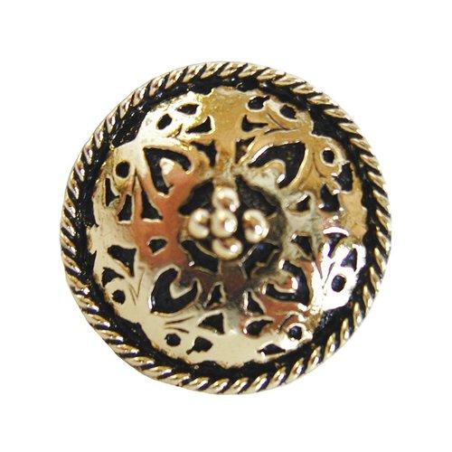 Notting Hill Jewel 1-1/16 Inch Diameter Brite Brass Cabinet Knob NHK-112-BB