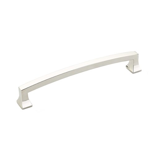 Schaub and Company Menlo Park 6 Inch Center to Center Polished Nickel Cabinet Pull 541-PN
